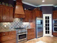 Homecrest Maple Bayport Toffee Stain Kitchens
