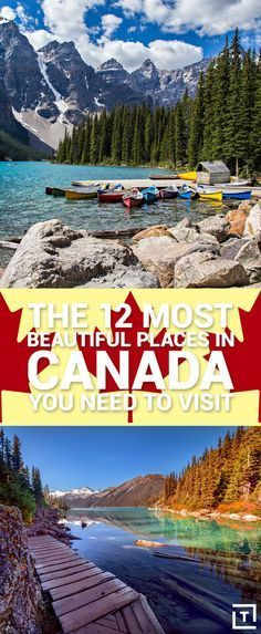 12 Most Beautiful Places in Canada You Need to Visit Start packing your bags for a trip to Canada.Start packing your bags for a trip to Canada. Cool Places To Visit, Places To Travel, Travel Destinations, Places To Go, Banff, Visitar Canada, British Columbia, Canada Vancouver, Into The West