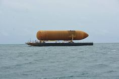 The last space shuttle external tank in existence, headed from the New Orleans manufacturing plant to the California Science Center for the vertical launch pad display of the retired orbiter Endeavour, has passed through the Panama Canal. The Shannon Dann tugboat pulling the Gulfmaster I barge loaded with External Tank No. 94 arrived at the canal's northern inlet on Saturday. It traversed the initial portions of the 48-mile-long canal on Monday and reached the Pacific Ocean on Tuesday.