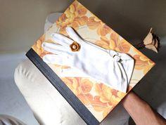 Vintage Glove Flower Notebook with Gold Mustard by ZiLLAsQuEeN, $22.00