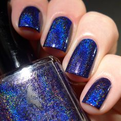 Starry Night of the Summer - Navy Blue Holo Polish