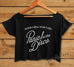Hey, I found this really awesome Etsy listing at https://www.etsy.com/listing/193009662/panic-at-the-disco-shirt-women-crop-top