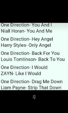 Well Liam you gotta think of another name related to 1D songs!