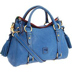 Royal blue Dooney & Bourke Florentine small satchel