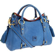 Royal blue Dooney & Bourke Florentine small satchel