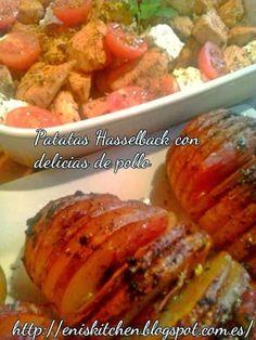 Hoy en el menú de los martes!!..pollo!!...http://eniskitchen.blogspot.com.es/2014/01/patatas-hasselback-con-delicias-pollo.html