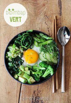 Bibimbap vert - Green vegetarian bibimbap