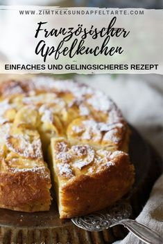 French apple pie - incredibly juicy, fruity and simple! - Cinnamon biscuit and apple tart- Französischer Apfelkuchen – unglaublich saftig, fruchtig und einfach! – Zimtkeks und Apfeltarte You can& get more apple in an apple pie: … - Easy Baking Recipes, Cake Recipes, Dessert Recipes, French Apple Pies, Cinnamon Biscuits, Dessert Sans Gluten, Fast Easy Meals, Apple Desserts, Food Cakes