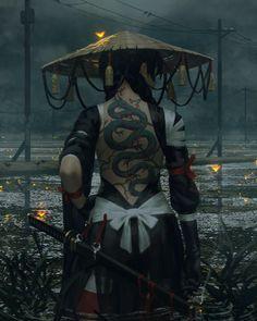 The spirit of the samurai photography – … - Fantasy Figuren Fantasy Artwork, Anime Art Fantasy, Fantasy Girl, Character Inspiration, Character Art, Character Concept, Ronin Samurai, Female Samurai Art, Urban Samurai
