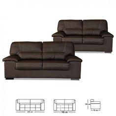 Foto de Sofa premium 3+2 plazas piel sintética
