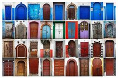 Some of the colourful doors in Rabat's Medina and Kasbah of the Udayas