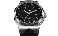 The MX10-209 from British brand Nite Watches is an awesome mens watch featuring a brushed stainless steel case, black polymer strap, Sapphire crystal, Swiss T25 tritium illumination and a Swiss quartz movement from Ronda.