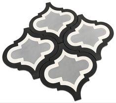 Handmade Encaustic Cement Lantern Arabesque tiles. Free Shipping! Stocked in the USA and ships out in 1-2 business days. #tiles #arabesque #cementtile #design #homedecor #homedecorideas #homedesign #remodel #bathroom #kitchendesign #diy #thebuilderdepot Arabesque Tile, Concrete Tiles, Backsplash, Lanterns, Kitchen Design, House Design, Remodel Bathroom, Flooring, Shapes