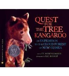 Quest for the Tree Kangaroo by Sy Montgomery. Both adults and kids at our house love Sy Montgomery and Nic Bishop's books. The Tapir Scientist, and Saving the Ghost of the Mountain are 2 of their other collaborations.