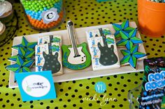 Shake, Rattle & Roll Baby Shower {Chandler Rock Star Baby Shower ...