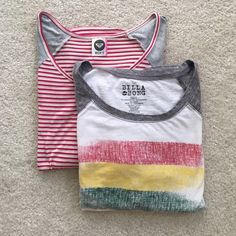 Roxy/Billabong T-Shirt Bundle Striped 3/4 sleeve Roxy too with high low hem. Looks great with cropped jeans and a pair of chucks :).  Long sleeve Billabong t-shirt - great to just hang out in. Both have minor wear. Roxy Tops Tees - Long Sleeve