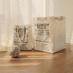 Farmhouse Style, Rustic Laundry Baskets - Large and Medium