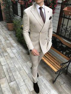 Mens Casual Suits, Dapper Suits, Dress Suits For Men, Mens Fashion Suits, Mens Suits, Groom Suits, Wedding Suit Styles, Wedding Suits, Turtleneck Suit