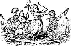 Kinder spielen: Alte Kinderspiele