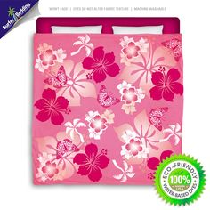 Pink Hibiscus Eco Friendly & Made in USA Surfer Bedding Beach Comforter