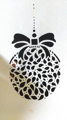 Christmas Ornament DIY Papercut Template by HandmadezbyAgnisha