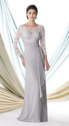 Montage 114920 Long Sleeve Mother of the Bride Dress - French Novelty