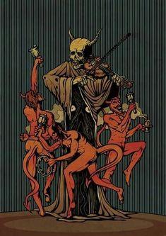 "Picture of Costin Chioreanu ""Dance of Death"" Dance Of Death, Arte Horror, Horror Art, Dark Fantasy, Fantasy Art, La Danse Macabre, Arte Indie, Satanic Art, Ange Demon"