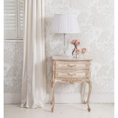 Delphine Distressed French Bedside Table by The French Bedroom Company is at the same time feminine, romantic and shabby chic. Painted Bedside Tables, French Bedside Tables, Console Tables, French Furniture, Painted Furniture, Bedroom Furniture, Shabby Chic, Home Decor, French Bohemian