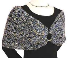 Free Crochet Tutorial: Soft Shoulder Shrug. I Love This. It Is A Very Classic Look. Also XL Is Up To 49 Inches It Will Fit Some Plus Sizes!  with cute fabric???