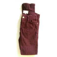 Current/Elliott maroon corduroy pants Maroon cords skinny pants. Tag says size 23-0. Very snug fit. My measurements: waist lying flat side to side is about 13.5 inches. Inseam is 33 inches. Dept. 10.15.9.5. Lot 001. Ref. Wear for love/love for wear. Made in USA.  Used but in very good condition.  #cordspants #corduroypants #skinnies #skinnycords #madeinusa #currentelliot #skinnypants #skinnyjeans #maroonpants Current/Elliott Pants Skinny