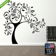 Wall Decal Mural Sticker Beautyfull Bedroom Tree Kids  (z150)