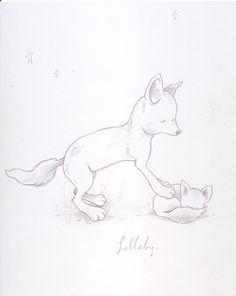 """lullaby"" Kurt Halsey foxes!!!!!"