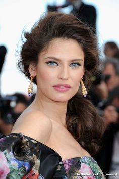 Bianca Balti wore hair with volume and tasteful make-up on the red carpet at the screening of 'Lawless' during the 65th International Cannes Film Festival in Cannes, France on 19 May 2012.