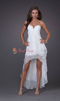 high low white dress | High Low Prom Dresses 2012, High Low Chiffon Dresses, White Prom Dress ...
