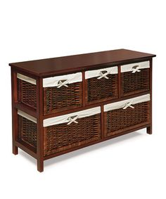 Loving this Cherry Five-Basket Storage Unit on #zulily! #zulilyfinds