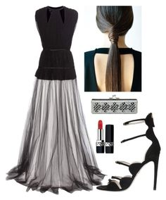"""""""Elegant Evening Wear"""" by kotnourka ❤ liked on Polyvore featuring Giambattista Valli, Judith Leiber and Christian Dior"""