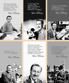 I love Walt Disney! Walt Disney Quotes, Disney Facts, Walt Disney World, Disney Sayings, Quote Tattoos Girls, Girl Quotes, Tattoo Quotes, Disney Love, Disney Magic