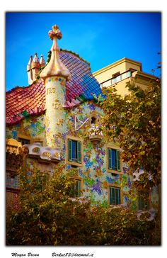 Casa Batllo by Gaudi.  Barcelona , Spain
