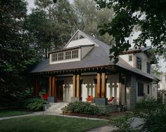 This Asian-Craftsman fusion house has elements of two of my favorite architectural styles.