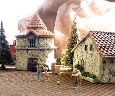 French Farm Pigeonnier Roundhouse - Handmade Miniature in HO Scale