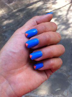 A kindda different French mani ☺️ #nail #nails #nailart @nailartproject www.nailartparaprincipiantes.wordpress.com