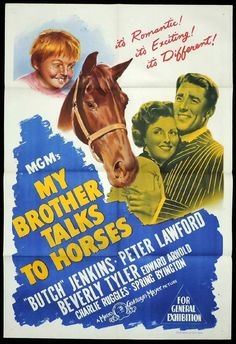 MY BROTHER TALKS TO HORSES One Sheet Movie Poster Peter Lawford Beverly Tyler