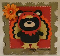 Hi Everyone! Here's a little card that I made using the Teddy Bear Parade and Birthday Bash Cricut Cartridge. I also used Happy Days from CardzTV Stamps.