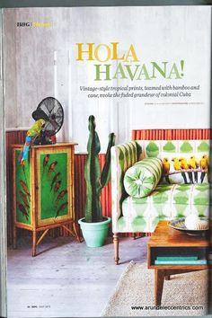 Hola Havana | Arundel Eccentrics Antique www.arundeleccentrics.com. Must paint a cabinet ,ike this one