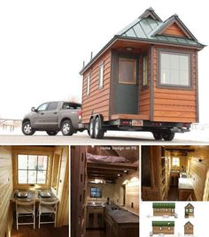 tiny house on wheels - SWEET! More at: www.diycozyhome.com