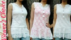 DIY/ 10 min/Peplum Top using old Dupatta/Piece of Fabric/Lace/Net/Tassel. Diy Clothes, Clothes For Women, Bodice Pattern, Stitching Dresses, Baby Dress Design, Baby Dress Patterns, Clothing Patterns, Sewing Patterns, Indian Designer Wear