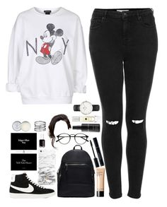 """A trip to Manchester."" by amy-gray0 ❤ liked on Polyvore featuring Topshop, NIKE, MANGO, Bobbi Brown Cosmetics, Jo Malone, Essie, Jack Wills and Daniel Wellington"