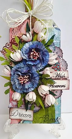 #cheeryld Hello to everyone!!!! Happy Wednesday to all !!! Before I begin with my work, I want to tell you that this will be my last post for Cheery Lynn designs. It has been a happy journey at the Cheery Lynn blog. The list of dies Build a Flower #2 B 187 Shasta Daisy-B310 Flourish leaf strip B178 English tea party doily DL 101 Lords and commons doily set of 2 paper is from Prima stamps- Justrite www.CheeryLynnDesigns.com