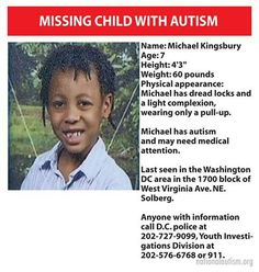 Please share. Missing child with #autism in DC. #dmv #maryland #dcmetro #washingtondc #amberalert #missing #virginia