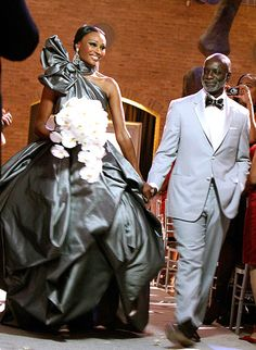 """Cynthia Bailey and Peter Thomas: The self-proclaimed """"runaway bride"""" finally tied the knot with Thomas in an episode of The Real Housewives of Atlanta, airing during the third season on Jan. 30, 2011."""